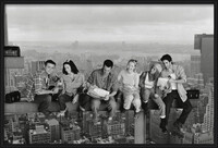 Friends - Lunch On A Skyscraper Framed Poster