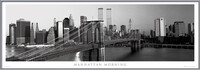 Manhattan - morning b&w Framed Poster