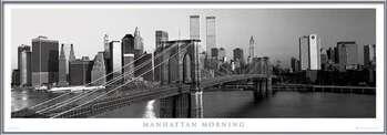 Manhattan - morning b&w Framed Poster