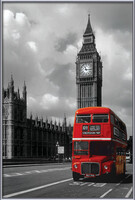 London red bus Framed Poster