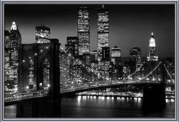 Manhattan - Night Framed Poster