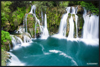 Waterfalls of Martin Brod on Una national park, Bosnia and Herzegovina Framed Poster