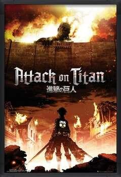 Framed Poster Attack on Titan (Shingeki no kyojin) - Key Art