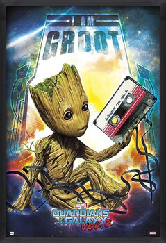 Framed Poster Guardians Of The Galaxy Vol 2 - Groot