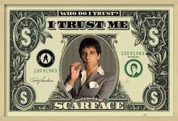Framed Poster SCARFACE - dollar