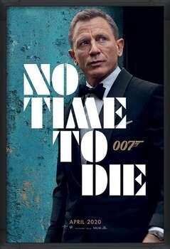 Framed Poster James Bond - No Time To Die - Azure Teaser