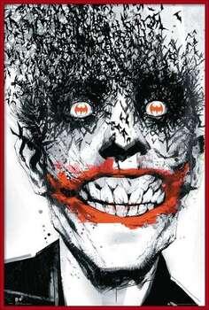 Framed Poster BATMAN Comic - Joker Bats