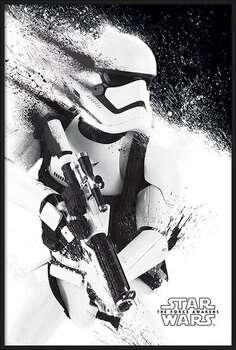 Framed Poster Star Wars Episode VII: The Force Awakens - Stormtrooper Paint