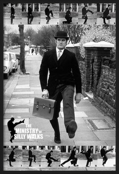 Framed Poster Monty Python - the ministry of silly walks