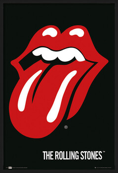 Framed Poster the Rolling Stones - Lips
