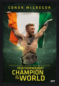 Framed Poster Conor McGregor - Featherweight Champion