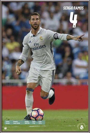 Real Madrid 2016/2017 - Sergio Ramos Accion Poster